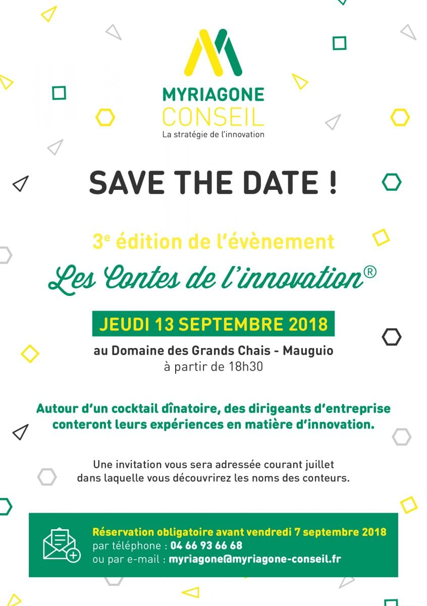 Save The Date - Contes de l'innovation 2018