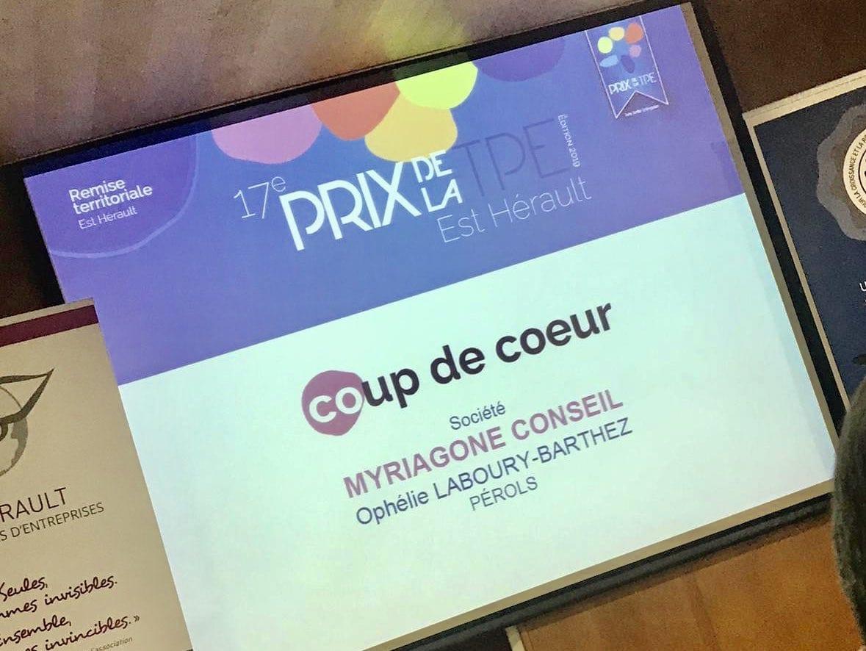 Myriagone Conseil prix coup de coeur TPE Est Hérault 2019